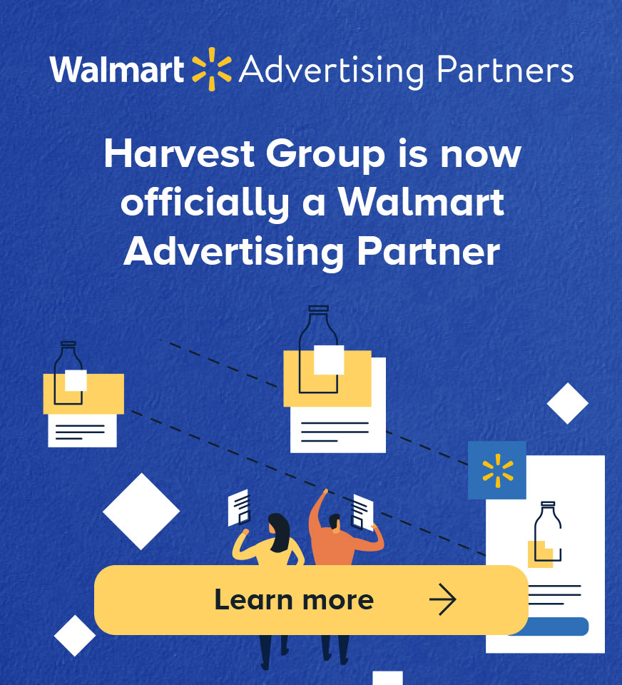 Harvest Group is now officially a Walmart Advertising Partner | Mobile Banner