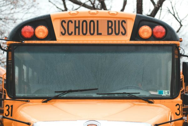 school bus for Harvest Group's 2021 Back to School blog post